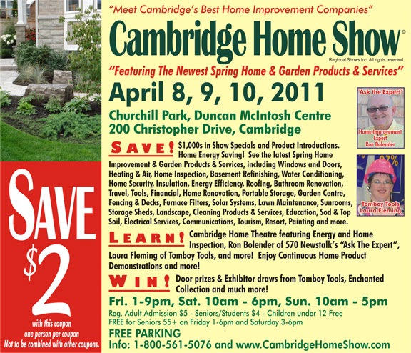 Cambridge Home Show © Admission Coupon
